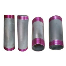 "GI Barrel Pipe Nipple Round Commercial (LENGTH:200mm 8"" Long)"