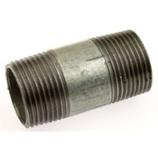 "MS Barrel Pipe Nipple Round ERW Commercial (LENGTH:50mm 2"" Long)"