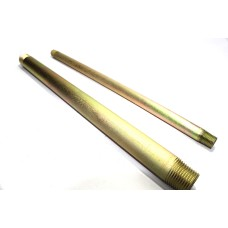"MS Barrel Pipe Nipple Round Heavy Duty Perfect Thread (LENGTH:300mm 12"" Long)"