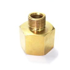 Brass Equal Adapter Hex Male/Female