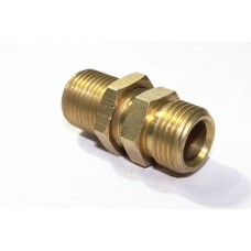 Brass Bulkhead Hex Nipple Adapter Male End
