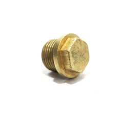 Brass Collar Hex Plug