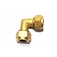 Brass Equal Elbow Olive Couplings Straight Compression Ferrule Fitting 90* Bend.