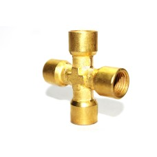 Brass Cross Four Way Adapter Female