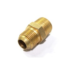 Brass Flare Nipple Hex Adapter NPT Male Connector Compression Fittings.