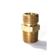 Brass NPT X BSP Double Nipple Hex Adapter Male Connector