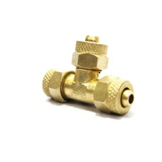 Brass Pu Tee Equal Pneumatic