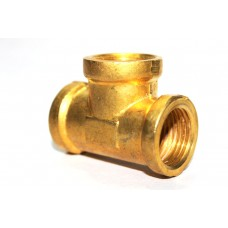 Brass Tee Connection Female Thread.