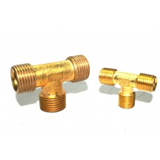 Brass Tee Connection Male Thread.