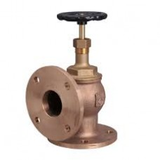 GM Globe Steam Stop Valve Angle Type Flanged Temp-220°C (WJ-Neta)