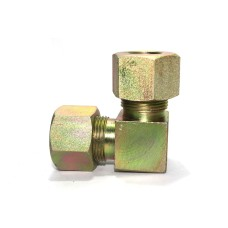 MS Equal Elbow Union Couplings Hydraulic 90* Bend Ferrule Fitting