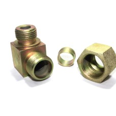 MS Male Stud Elbow Couplin Parallel Hydraulic Connector Single Ferrul Type Fittings. 90* Bend ('S' Series - Heavy Duty)