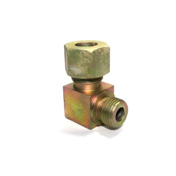 MS Male Stud Elbow Couplin Parallel Hydraulic Connector Single Ferrul Type Fittings. 90* Bend