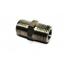 SS NPT Double Nipple Hex Adapter Male Heavy Stainless Steel 304