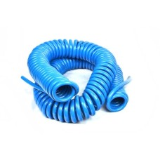 Pneumatic PU Polyurethane Tube Blue (Coiled Form) Length 10 Mtrs