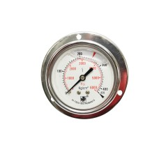 "Pressure Gauge Back Connection Panel Mounting 3/8 BSP (100MM / 4"" Dial) SS Body Glycerine filled"