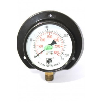 "Pressure Gauge Bottom Connection 3/8 BSP (100MM / 4"" Dial)"