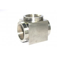 SS Tee Solid Body Female Thread Stainless Steel 304