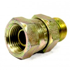 MS Swivel Nipple Straight Hydraulic Hex Hose Connector Adapter Male / Female