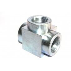 MS Tee Hydraulic Adapter Female Thread.