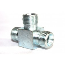 MS Tee Hydraulic Adapter Male Thread