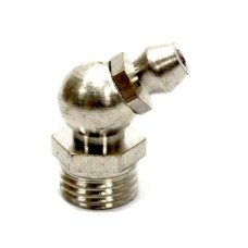 Grease Nipple 45° Bent Brass Zinc Plated