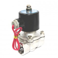 SS Solenoid Valve Diaphragm Type 2/2 Temp -5 to 80*C Direct Acting
