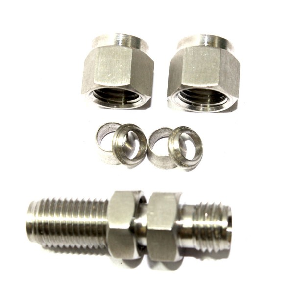 316 SS Double-Ferrule Instrumentation Fitting Pack Of 11 Sleeve for 1//4 Tube OD