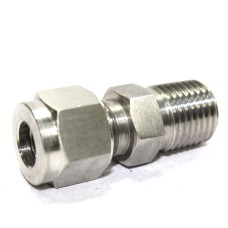 SS Male Connector Compression Double Ferrule OD Fitting Stainless Steel 304