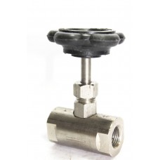 SS Needle Valve Screwed Round Body Stainless Steel 202.