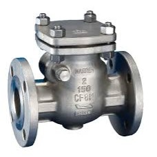 SS Swing Check Valve IC Flanged End Investment Casting CF-8 Stainless Steel 304 (CLASS :150#)