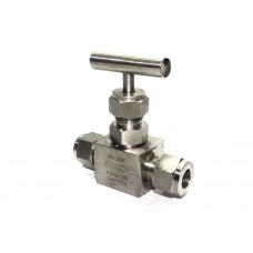 SS Needle Valve Instrumentation High Pressure Square Body Ferrule type (6000PSI) Stainless Steel 316