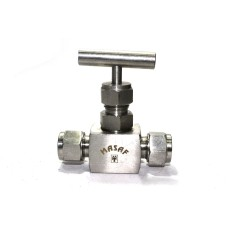 SS Needle Valve Instrumentation High Pressure Square Body Ferrule type (3000PSI) Stainless Steel 304