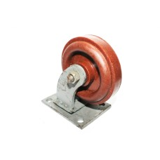 Fiber Heavy Duty Caster Trolley Wheels (Red)